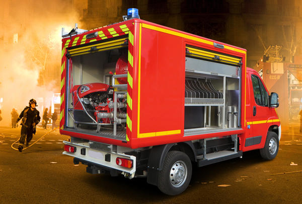 Firefighting vehicle gruau